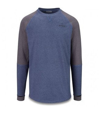 DAKINE DAKINE MENS UNION MID WEIGHT CREW BASE LAYER TOP NIGHT SKY / BLACK HEATHER 2020