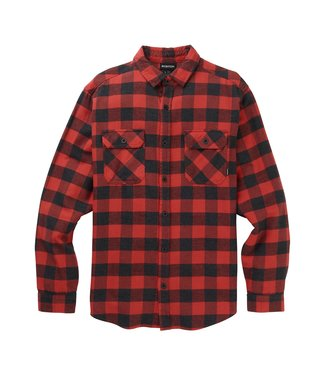 BURTON BURTON MENS BRIGHTON FLANNEL MID LAYER TOP TANDORI / HEATHER BUFFALO 2020