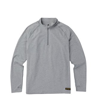BURTON BURTON MENS EXPEDITION 1/4 ZIP L/S BASE LAYER TOP MONUMENT HEATHER 2020