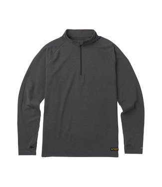 BURTON BURTON MENS EXPEDITION 1/4 ZIP L/S BASE LAYER TOP TRUE BLACK HEATHER 2020