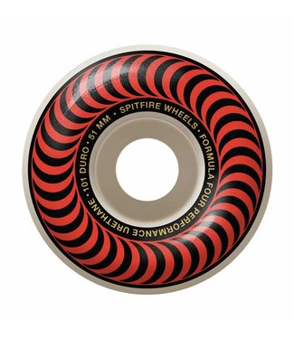 SPITFIRE SPITFIRE F4 CLASSIC RED SKATEBOARD WHEELS - 51MM - 101A