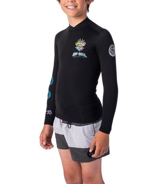 RIP CURL RIP CURL BOYS JUNIOR DAWN PATROL 1.5MM L/S WETSUIT JACKET 2020