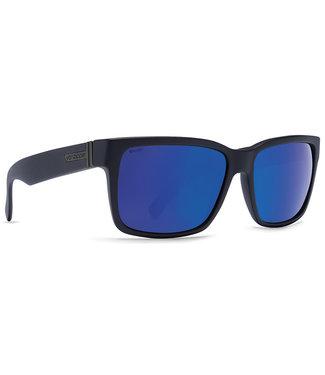 VONZIPPER VONZIPPER ELMORE SATIN BLACK SUNGLASSES w/ WILD BLUE FLASH POLARIZED LENS