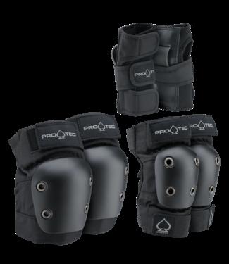 PROTEC PROTEC JUNIOR 3-PACK PAD SET - BLACK - Y/S