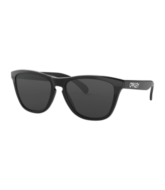 OAKLEY OAKLEY FROGSKINS POLISHED BLACK SUNGLASSES w/ GREY LENS