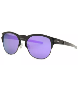 OAKLEY OAKLEY LATCH KEY MATTE BLACK SUNGLASSES w/ VIOLET IRIDIUM LENS