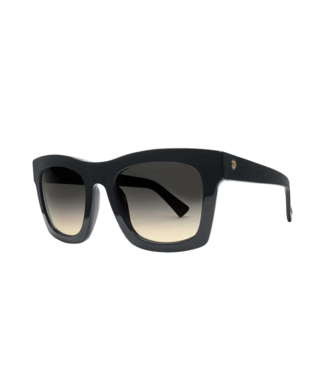 ELECTRIC CRASHER GLOSS BLACK SUNGLASSES w/ BLACK GRADIENT LENS