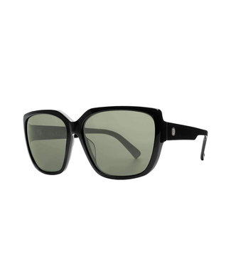 ELECTRIC HONEY BEE GLOSS BLACK SUNGLASSES w/ OHM GREY LENS