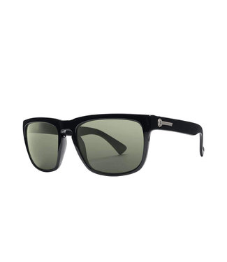 ELECTRIC KNOXVILLE GLOSS BLACK SUNGLASSES w/ OHM POLARIZED GREY LENS