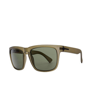 ELECTRIC KNOXVILLE XL MATTE OLIVE SUNGLASSES w/ POLARIZED GREY LENS