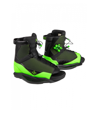 RONIX RONIX MENS DISTRICT WAKEBOARD BOOT BLACK / GREEN 7.5-11.5 2020
