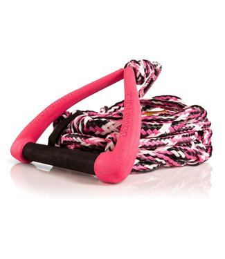 "LIQUID FORCE LIQUID FORCE SURF DLX ROPE w/ 9"" HANDLE + FLOAT PINK - 2020"