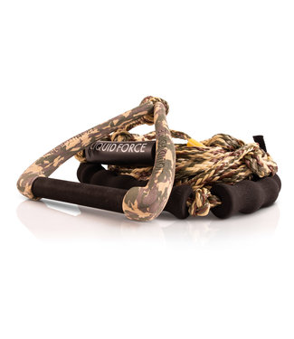 "LIQUID FORCE LIQUID FORCE SURF DLX ROPE w/ 9"" HANDLE + FLOAT CAMO - 2020"