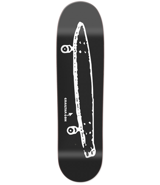 GIRL GIRL CRAILTAP LOGO BLACK SKATEBOARD DECK - 8.5