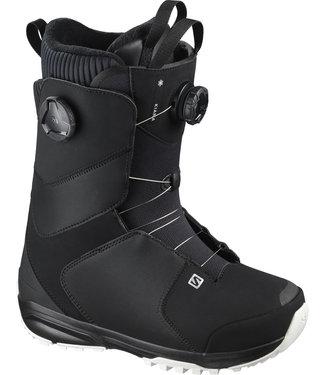 SALOMON 2021 SALOMON KIANA DUAL BOA WOMENS SNOWBOARD BOOT BLACK/BLACK/WHITE