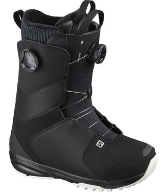 SALOMON SALOMON KIANA DUAL BOA WOMENS SNOWBOARD BOOT BLACK/BLACK/WHITE 2021