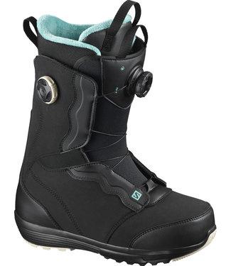 SALOMON 2021 SALOMON IVY BOA SJ BOA WOMENS SNOWBOARD BOOT BLACK/BLACK/BLUE