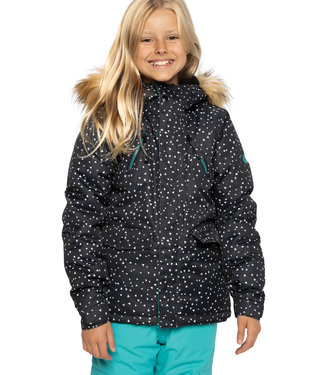 686 2021 686 GIRLS CEREMONY INSULATED JACKET BLACK ANGULAR