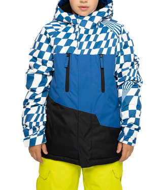 686 2021 686 BOYS GEO INSULATED JACKET PRIMARY BLUE