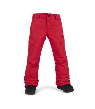 VOLCOM 2021 VOLCOM BIG BOYS CARGO INSULATED PANT RED