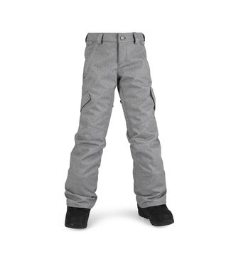 VOLCOM 2021 VOLCOM BIG GIRLS SILVER PINE INSULATED PANT HEATHER GREY