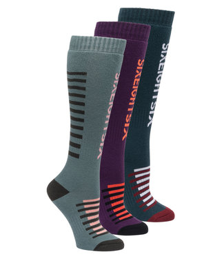 686 2021 686 WOMENS HEATER 3-PACK SNOWBOARD SOCK
