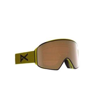 ANON 2021 ANON M4 CYLINDRICAL GOGGLE GREEN W/PERCEIVE SUNNY BRONZE + BONUS LENS + MFI MASK