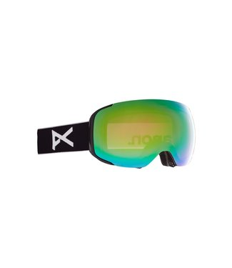 ANON 2021 ANON M2 GOGGLE BLACK W/PERCEIVE VARIABLE GREEN + BONUS LENS + MFI MASK
