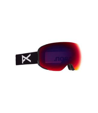ANON 2021 ANON M2 GOGGLE BLACK W/PERCEIVE SUNNY RED + BONUS LENS + MFI MASK