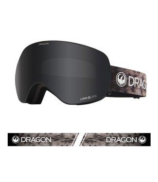 DRAGON DRAGON X2s SNOW LEOPARD GOGGLE w/ LUMALENS DARK SMOKE + LUMALENS LIGHT ROSE 2021