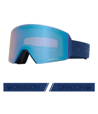 DRAGON 2021 DRAGON RVX OTG NAVY GOGGLE w/ LUMALENS FLASH BLUE + LUMALENS DARK SMOKE
