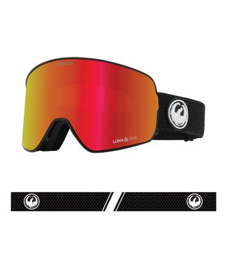 DRAGON 2021 DRAGON NFX2 SPLIT GOGGLE w/ LUMALENS RED ION + LUMALENS LIGHT ROSE