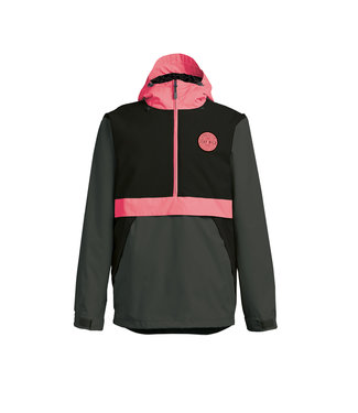 AIRBLASTER 2021 AIRBLASTER TRENCHOVER JACKET BLACK HOT CORAL