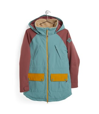 BURTON 2021 BURTON PROWESS JACKET WOMENS TRELLIS/ROSE BROWN/HARVEST GOLD