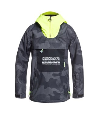 DC 2021 DC ASAP YOUTH ANORAK BOYS YOUTH PILL CAMO BLK