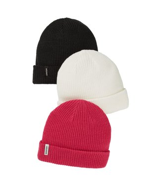 BURTON 2021 BURTON DND BEANIE 3-PACK TRUE BLACK / STOUT WHITE / PUNCHY