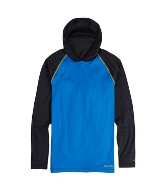 BURTON 2021 BURTON MIDWEIGHT X BASE LAYER LONG NECK HOODIE LAPIS BLUE /TRUE BLACK