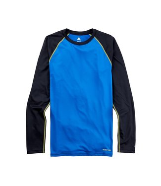 BURTON 2021 BURTON MIDWEIGHT X BASE LAYER CREW LAPIS BLUE / TRUE BLACK