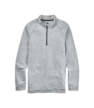 BURTON 2021 BURTON HEAVYWEIGHT X BASE LAYER QUARTER-ZIP GRAY HEATHER
