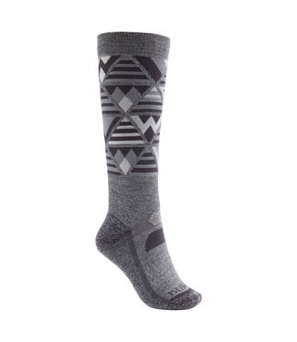 BURTON 2021 BURTON PERFORMANCE MIDWEIGHT SOCK WOMENS GRAY HEATHER