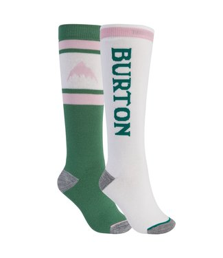 BURTON 2021 BURTON WEEKEND MIDWEIGHT SOCK 2-PACK WOMENS FROSTY SPRUCE/STOUT WHITE