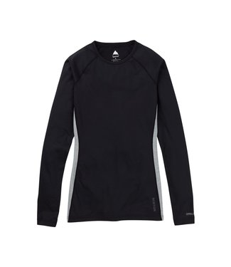 BURTON 2021 BURTON MIDWEIGHT X BASE LAYER CREW WOMENS TRUE BLACK