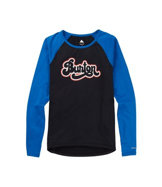 BURTON 2021 BURTON ROADIE BASE LAYER TECH T-SHIRT WOMENS TRUE BLACK/LAPIS BLUE
