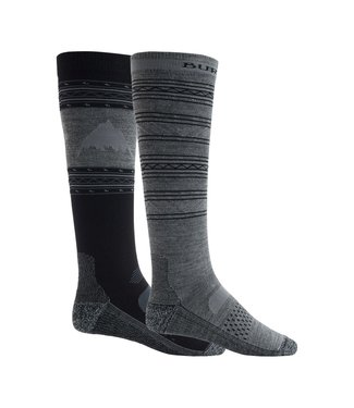 BURTON 2021 BURTON PERFORMANCE LIGHTWEIGHT SOCK 2-PACK TRUE BLACK