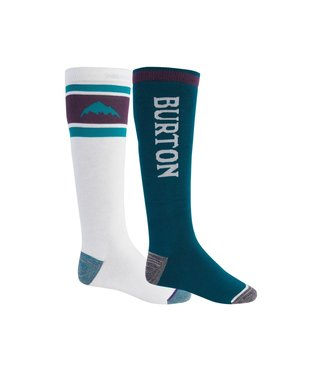 BURTON 2021 BURTON WEEKEND MIDWEIGHT SOCK 2-PACK STOUT WHITE / DYNASTY GREEN