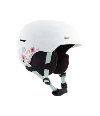 ANON 2021 ANON KIDS FLASH HELMET FLOWERS WHITE