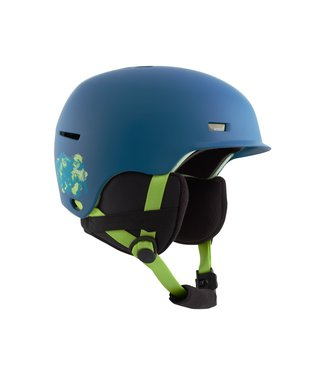 ANON 2021 ANON KIDS FLASH HELMET BLUE BISON