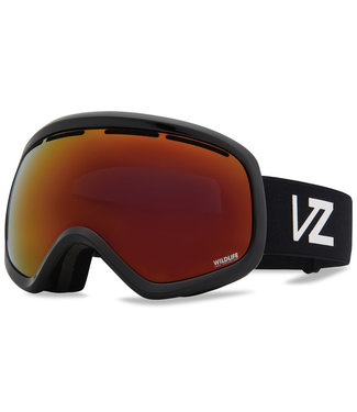 VONZIPPER 2021 VONZIPPER SKYLAB GOGGLE BLACK GLOSS w/ WILDLIFE BLACK-FIRE CHROME + NIGHTSTALKER BLUE BONUS LENS