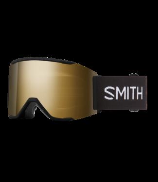 SMITH 2021 SMITH SQUAD MAG GOGGLE BLACK w/ CHROMAPOP SUN BLACK GOLD MIRROR + CHROMAPOP STORM ROSE FLASH