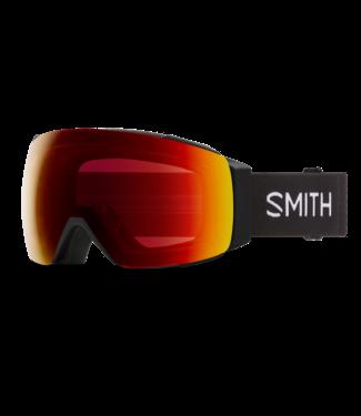 SMITH 2022 SMITH I/O MAG GOGGLE BLACK w/ CHROMAPOP SUN RED MIRROR + CHROMAPOP STORM YELLOW FLASH